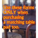 Extension Leaves WITH Purchase of Table Pad ONLY.